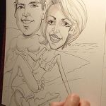 Caricature of a Young Couple